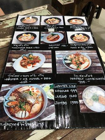 menu picture of p aor bangkok tripadvisor