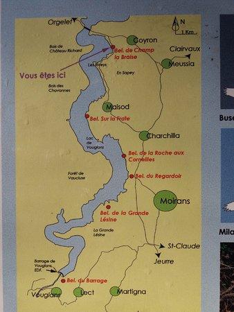 lac de vouglans carte plan   Photo de Lac de Vouglans, Orgelet   Tripadvisor