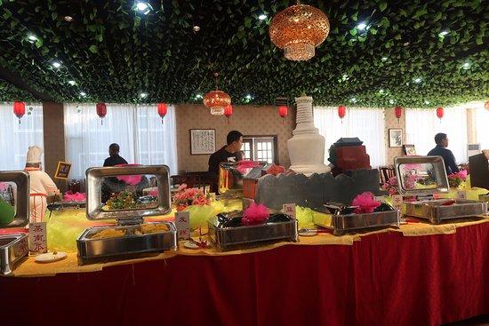 Wutai County, China: Breakfast spread