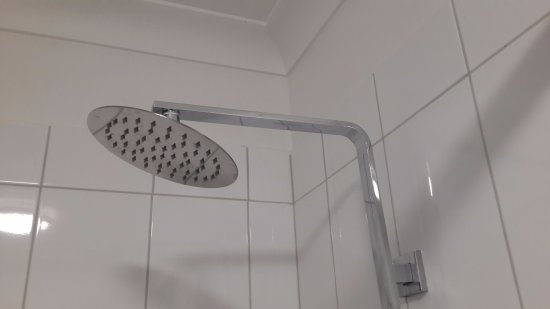 Quality Inn Carriage House: lovely big shower head