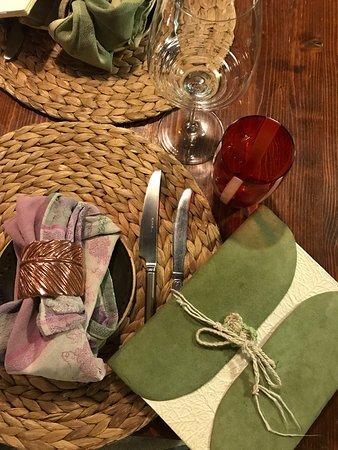 Panicale, Italia: Patate, lenticchie e tartufo su crema di pecorino