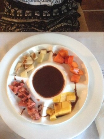 Sol Ananda: chocolate fondue