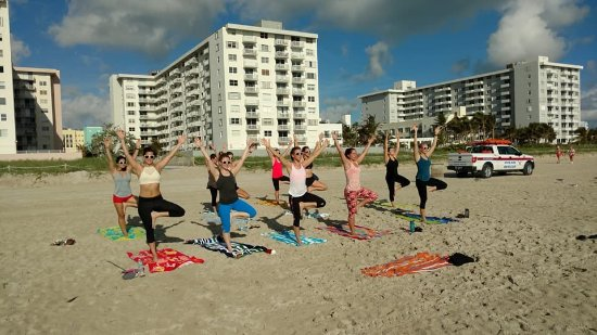 Beach Yoga @ 3rd Street: Taken by our instructor :)