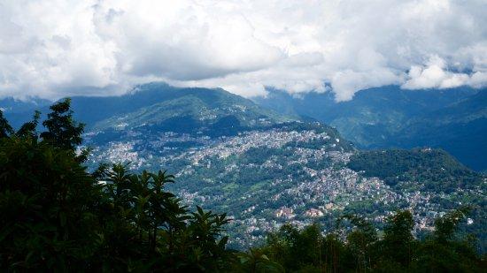 Rumtek, Indien: Blick Noach Gangtok