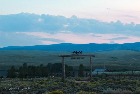 Jelm, WY: Entrance to the ranch