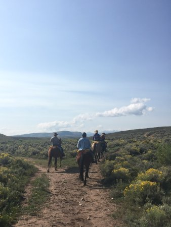 Jelm, WY: One of the trail rides