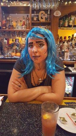 Newburyport, MA: My bartender and server, Halloween style!