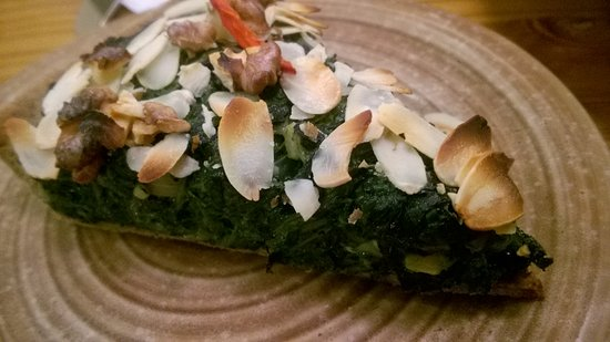Avocado: spinach tart