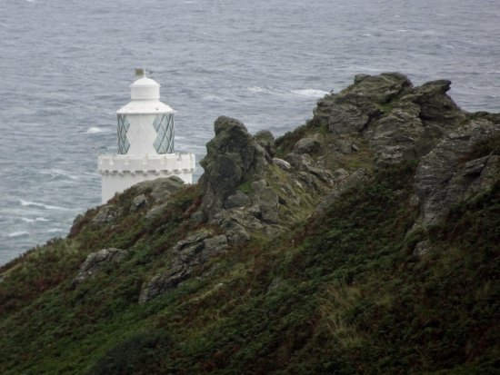 Start Point Lighthouse: A peek at the lighthouse from the track down (zoomed in!)