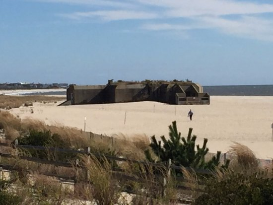 Cape May Point State Park: Historic WWII relic on beach