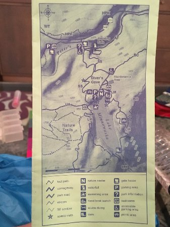 Kerhonkson, NY: Map handed out an entrance