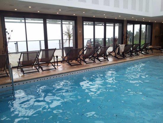 L'Agapa Hotel SPA Nuxe : L'espace spa offre une vue imprenable sur l'océan.