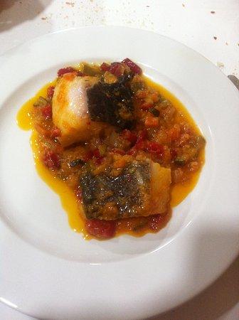Saldana, Spania: Bacalao con pisto