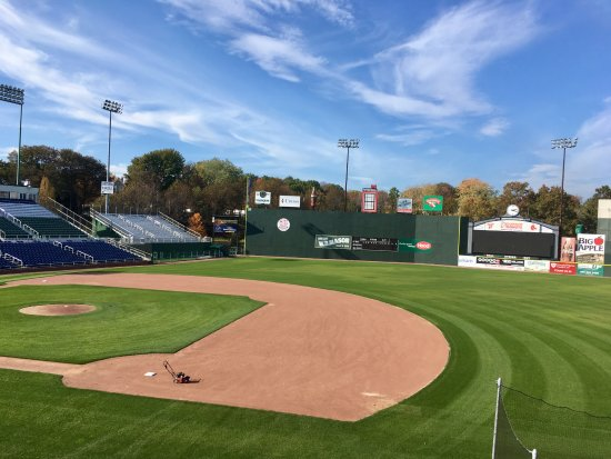 "Hadlock Field: The ""Maine Monster"" in left field."