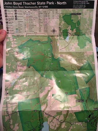 Voorheesville, NY: North park map - mostly hiking, not escarpment trails
