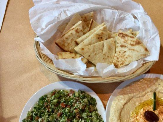 Ali Baba: Hummus with soft pita