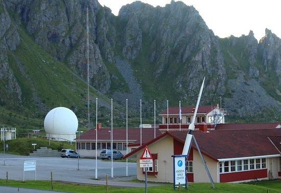 Andenes, Noorwegen: Andoya Space Center. Spaceship Aurora