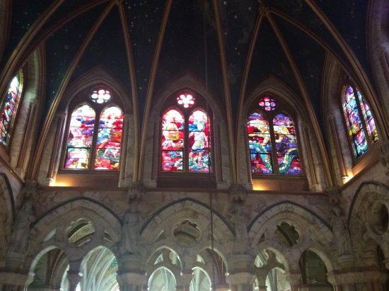 Stained glass windows at Mount Stuart House