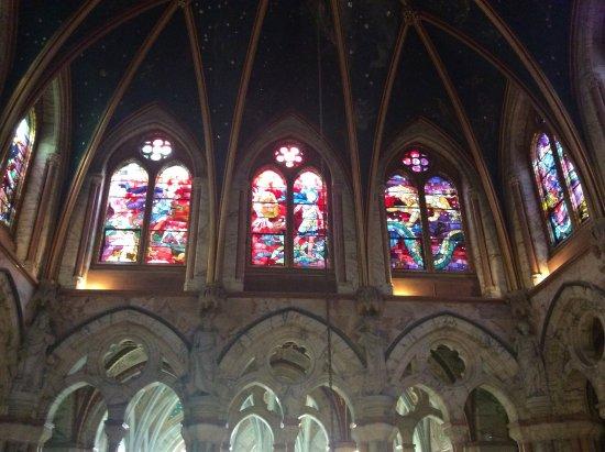 Mount Stuart: Stained glass windows at Mount Stuart House