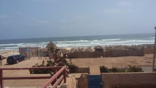 Yoff, Senegal: Enjoying the view from the roof patio