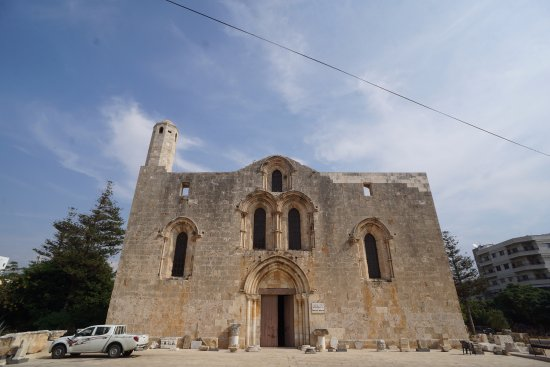 Tartus, Siria: The facade of the cathedral building taken from the street in front