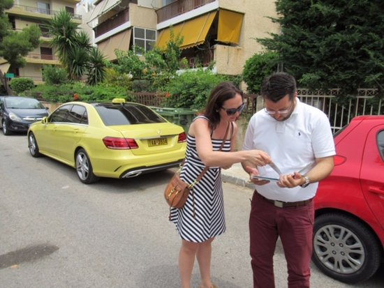 George's Taxi : The best customer service! Dimitris helping me find the apartment where I was born.