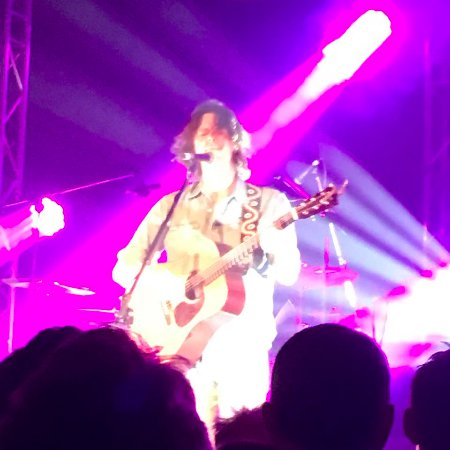 Marrickville, Australien: Bernard Fanning- as you can see, visibility is excellent!