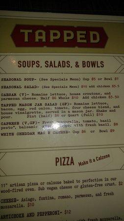 Tapped: menu