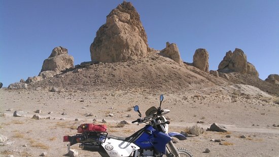 Trona, CA: You can ride on established roads, but be sure to walk in, too