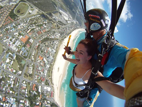 Gold Coast Skydive: Enjoying the canopy flight over the gorgeous Gold Coast