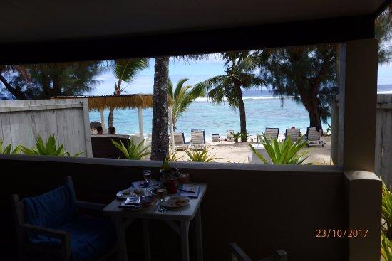كراون بيتش ريزورت آند سبا: View from inside our villa.
