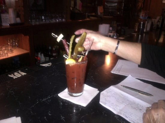 Coon Valley, WI: Bloody Mary with an entire meal on top.