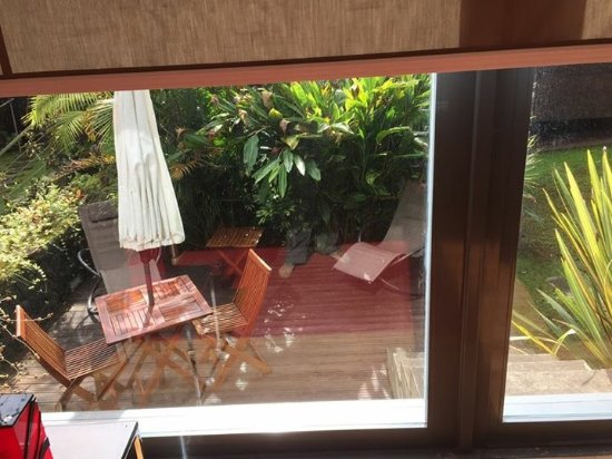 Quinta da Mo: My private deck from my living room window