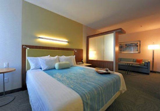 SpringHill Suites San Angelo: King Suite Sleeping Area