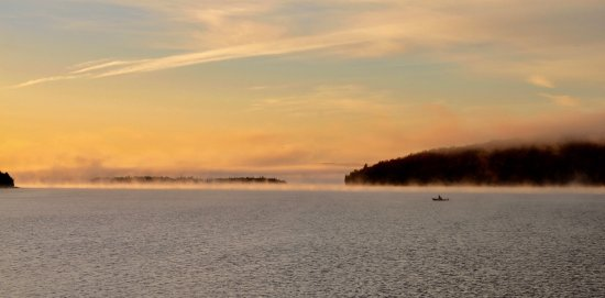 Whycocomagh, Canada: Sunrise fishing (oct. 29/17)