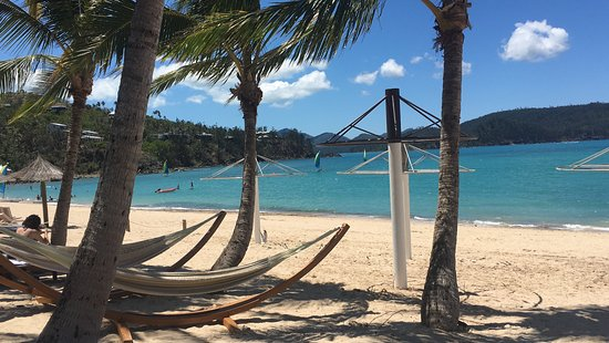 Beach Club: Hammocks for BC guests only - perfect to have a drink on the beach after sunset too!