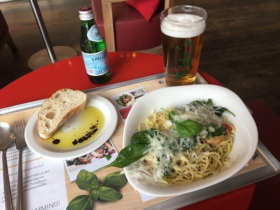 Vapiano : この日食べたパスタとビール&ミネラルウォーター