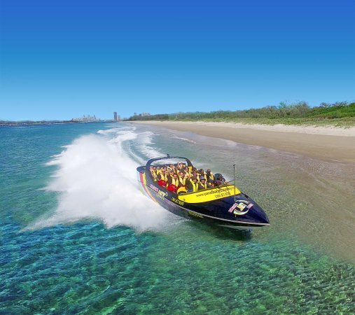 Main Beach, Australië: Jet Boat Ride