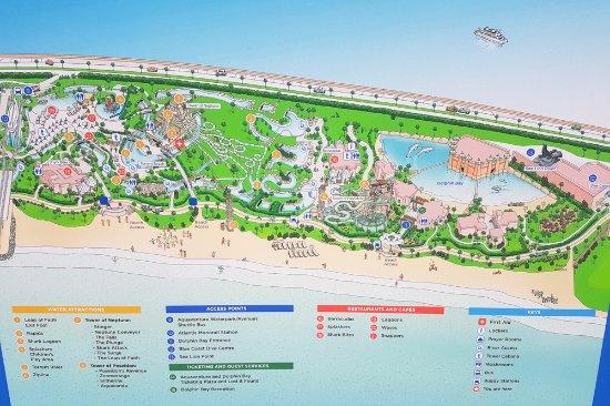 Map of the park Picture of Aquaventure Waterpark Dubai TripAdvisor