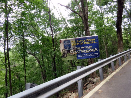 Lookout Mountain, Τενεσί: road sign on the road to the Museum