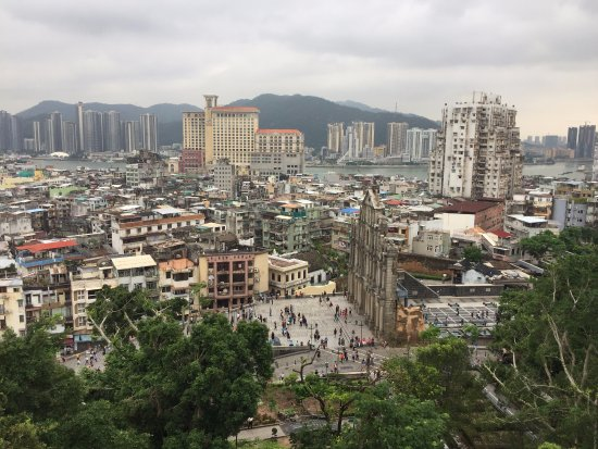Macao Museum: View of the ruins of St. Paul from the top of the museum