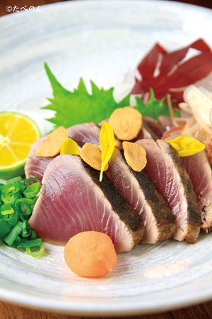 Tokushima Prefecture, Japan: 目玉料理・鰹の藁焼き