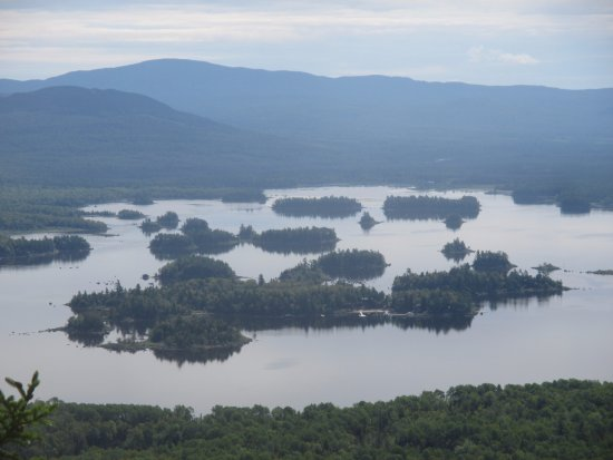 Jackman, Μέιν: Attean Lake from atop Sally Mountain