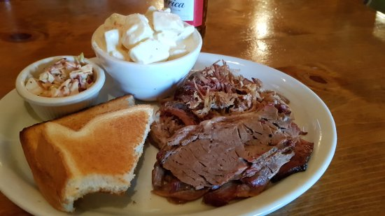 Pinedale, WY: My food, I think it was the pulled pork brisket