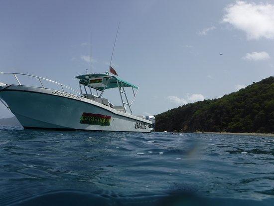 West End, Tortola: Capt. Deb's boat