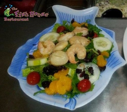 Our beautiful and healthy key west seafood salad for Fish house fort myers beach