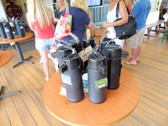 Kauai Coffee Company: Some of the samplers...