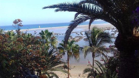 Meliá Fuerteventura: Это вид на океан из отеля. И на лагуну