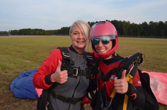 Chester, Caroline du Sud : Awesome tandem jump with this pro!