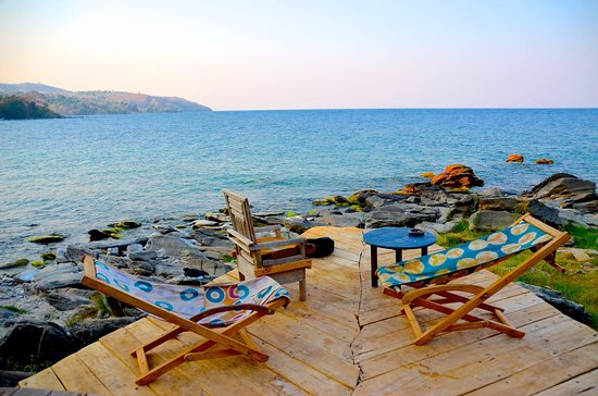 Nkhata Bay, مالاوي: Amazing view for dinner